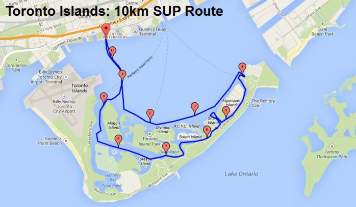 10km SUP Route